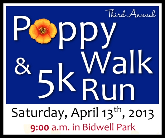 Poppy Walk on April 13th, 2013 at 9:00 a.m.